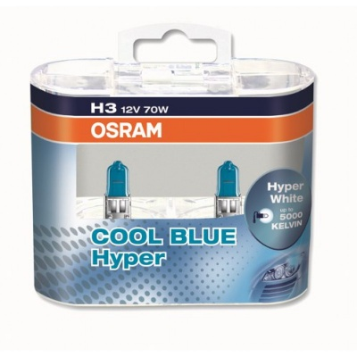 Галогенная лампа Osram Cool Blue Hyper H3 12V 55W 62151CBH DUOBOX